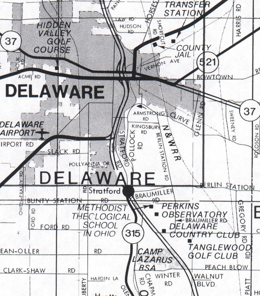 Directions To Big Ear OHS Marker - City map of delaware